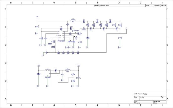 Stephen's Vox and a Box schematic. Work in Progress!