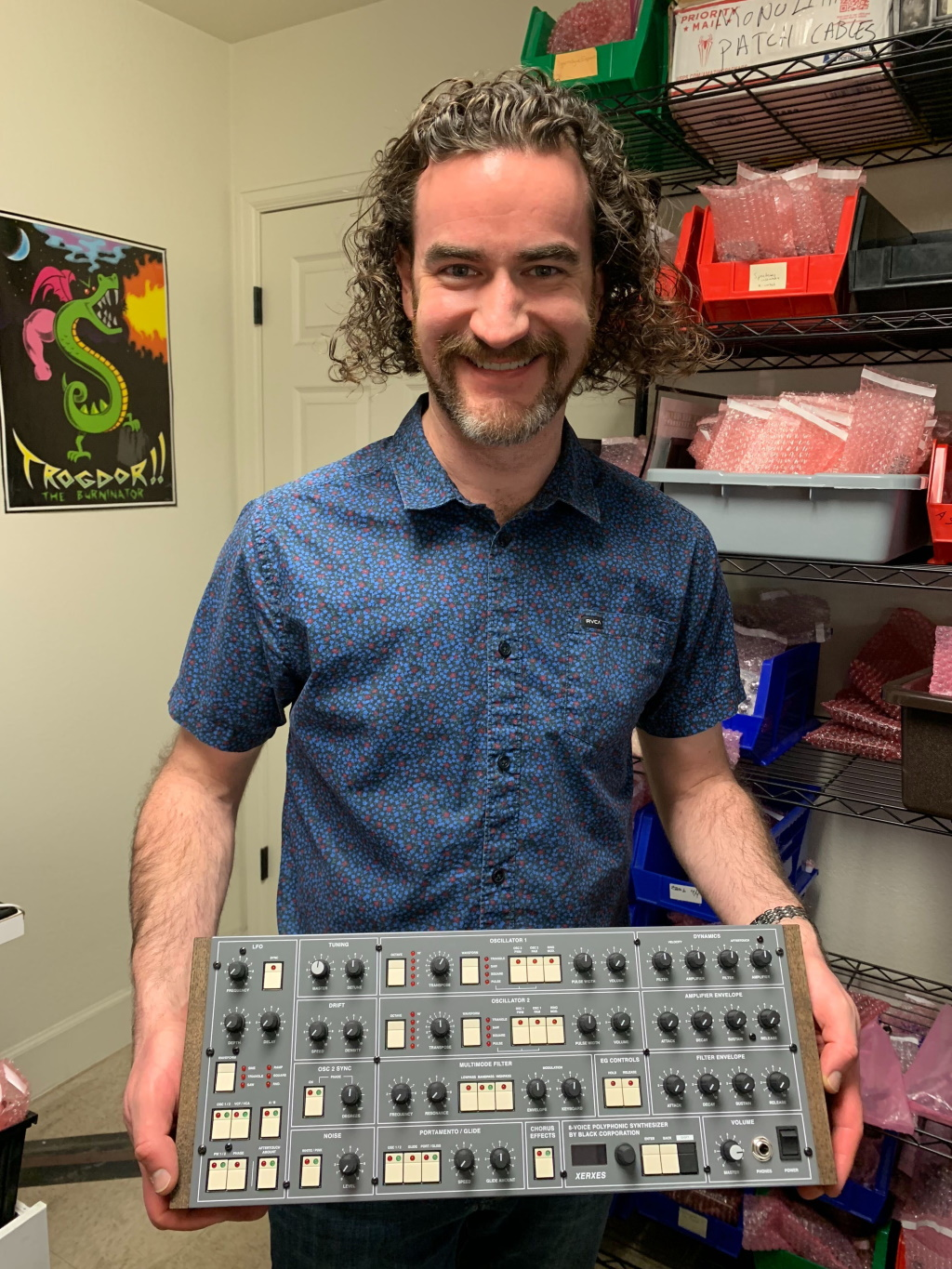 William Mathewson of WMDevices. WMD manufactures all there Eurorack and Pedals in-house in Denver, Colorado, USA.